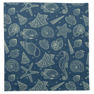 Ocean Inhabitants Pattern 2 Napkin
