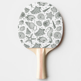 Ocean Inhabitants Pattern 3 Ping Pong Paddle