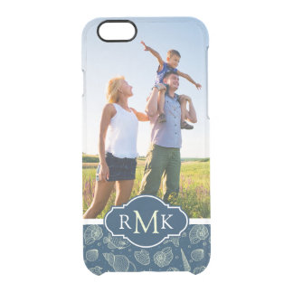 Ocean Inhabitants Pattern| Your Photo & Monogram Clear iPhone 6/6S Case