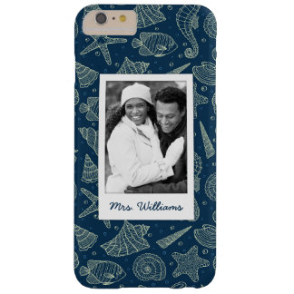 Ocean Inhabitants Pattern | Your Photo & Name Barely There iPhone 6 Plus Case