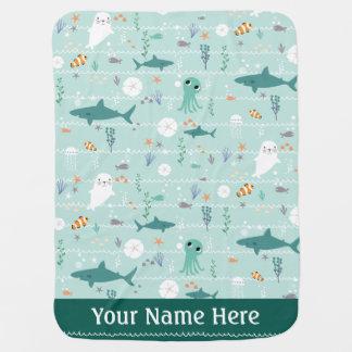 Ocean Nautical Baby Blanket