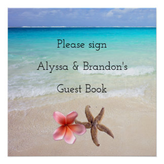 Ocean Scene Sign Wedding Guest Book