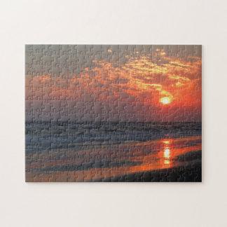 Ocean Sunset - Oak Island, NC Jigsaw Puzzle