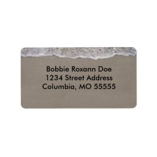 Ocean Tide Address Label