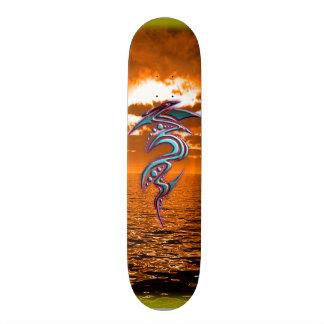 Ocean Tribe Sunset - By - ElixirNinE Design Custom Skateboard