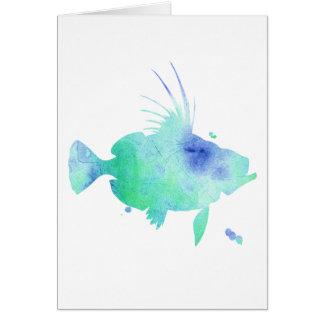 ocean vibes aqua fish card