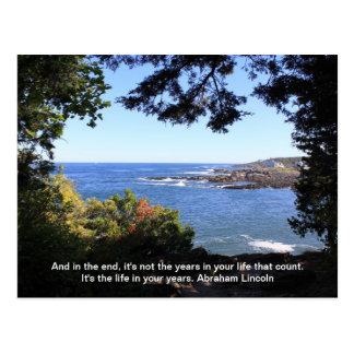 Ocean View  with a Quote Postcard