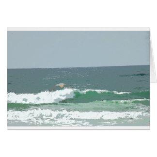 OCEAN WAVES GOLD COAST AUSTRALIA ART EFFECTS CARD