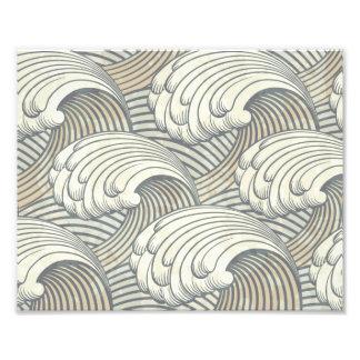 Ocean Waves Pattern Ancient Japan Art Photo Print