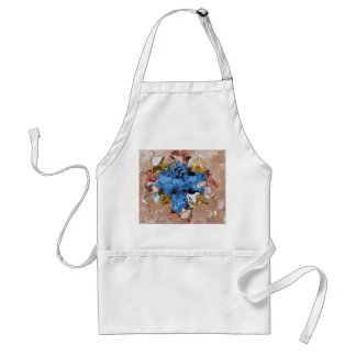 Ocean Waves Sandy Beaches Gold Treasures Abstract Standard Apron