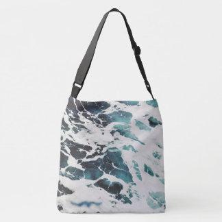ocean waves sea nature blue water beautiful crossbody bag