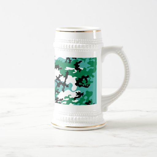 Oceanic Camo Beer Stein Coffee Mugs