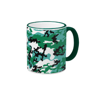 Oceanic Camo Glass Mug
