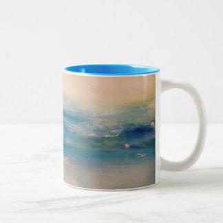 Oceans Of Morning Two-Tone Coffee Mug