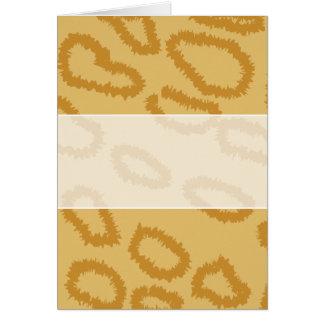 Ocelot Animal Print Pattern, Brown and Tan Colors. Card