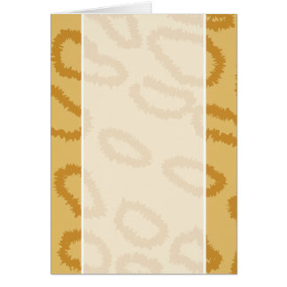 Ocelot Animal Print Pattern, Brown and Tan Colors. Card