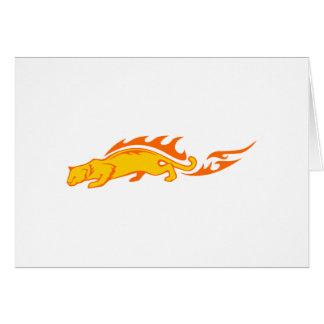 Ocelot in Flames Card