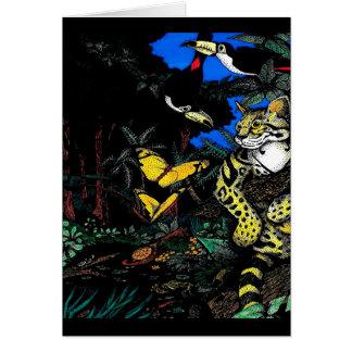 Ocelot in Rain Forest Card