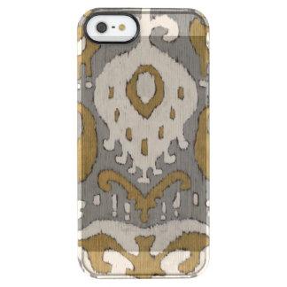 Ochre Ikat II Clear iPhone SE/5/5s Case