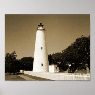 Ocracoke Lighthouse Print