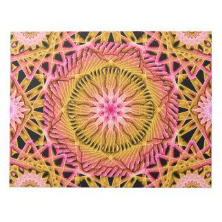 Octagonal Flower Mandala Notepad
