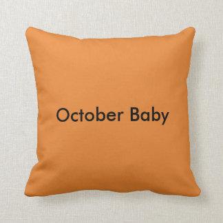 October Baby throw pillow