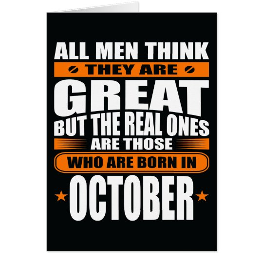 October Birthday (Add Your Text) Card