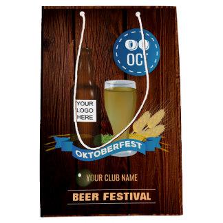 Octoberfest Club/Pub/Company add logo Medium Gift Bag