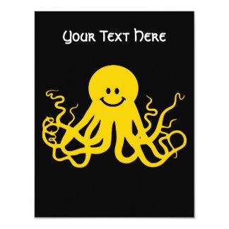 Octopus / Kraken Yellow Smiley Card