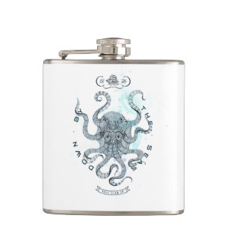 Octopus - Salt Club 76 - Down by the Sea Hip Flask