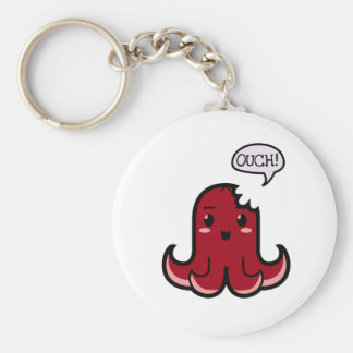 Octopus Sausage Bitten Keychain