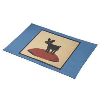 Odd Funny Looking Dog - Colorful Book Illustration Placemat