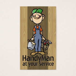Odd Jobs. Handyman. Painter. Builder Template Business Card