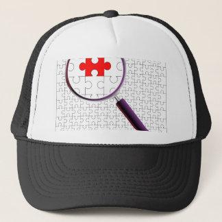 Odd Piece Magnifying Glass Trucker Hat