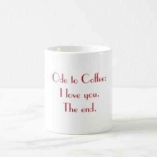 Ode to Coffee Basic White Mug