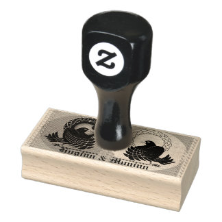 Odin's Ravens Huginn and Muninn Rubber Stamp