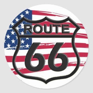 Of America route 66 Classic Round Sticker