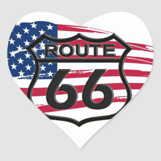 Of America route 66 Heart Sticker