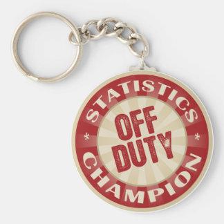 Off Duty Statistics Basic Round Button Key Ring