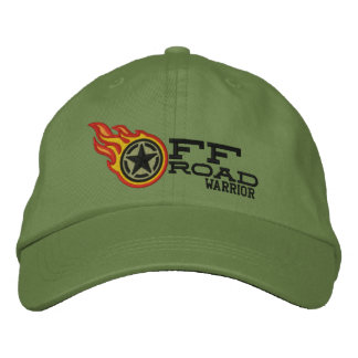 Off Road Racing Flames Bullet Embroidered Hat