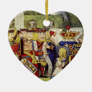 Off with their Heads Heart Ornimate Christmas Ornament