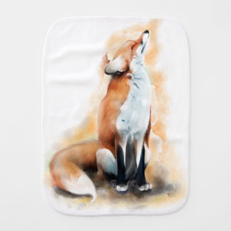 Offended fox. baby burp cloth