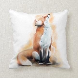 Offended fox. cushion