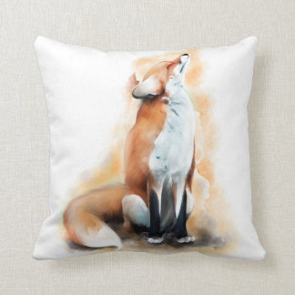 Offended fox. throw pillow