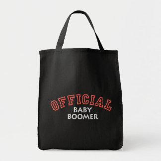 Offical Baby Boomer - Red Grocery Tote Bag