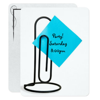 Office Party Reminder post it note Card