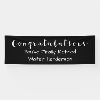 Office Retirement Banner