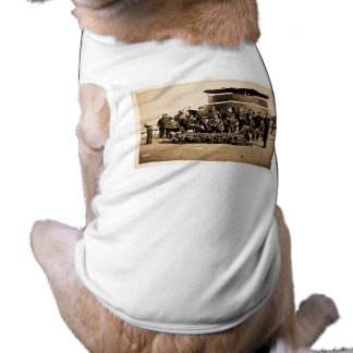 Officers on Deck of Ironclad Monitor Civil War Sleeveless Dog Shirt