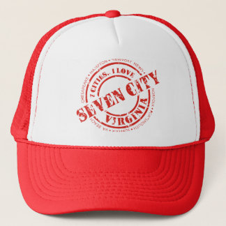 Official 7 City Stamp - Red Logo Trucker Hat