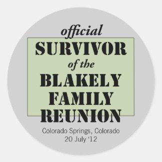 Official Family Reunion Survivor - Colorado Round Sticker